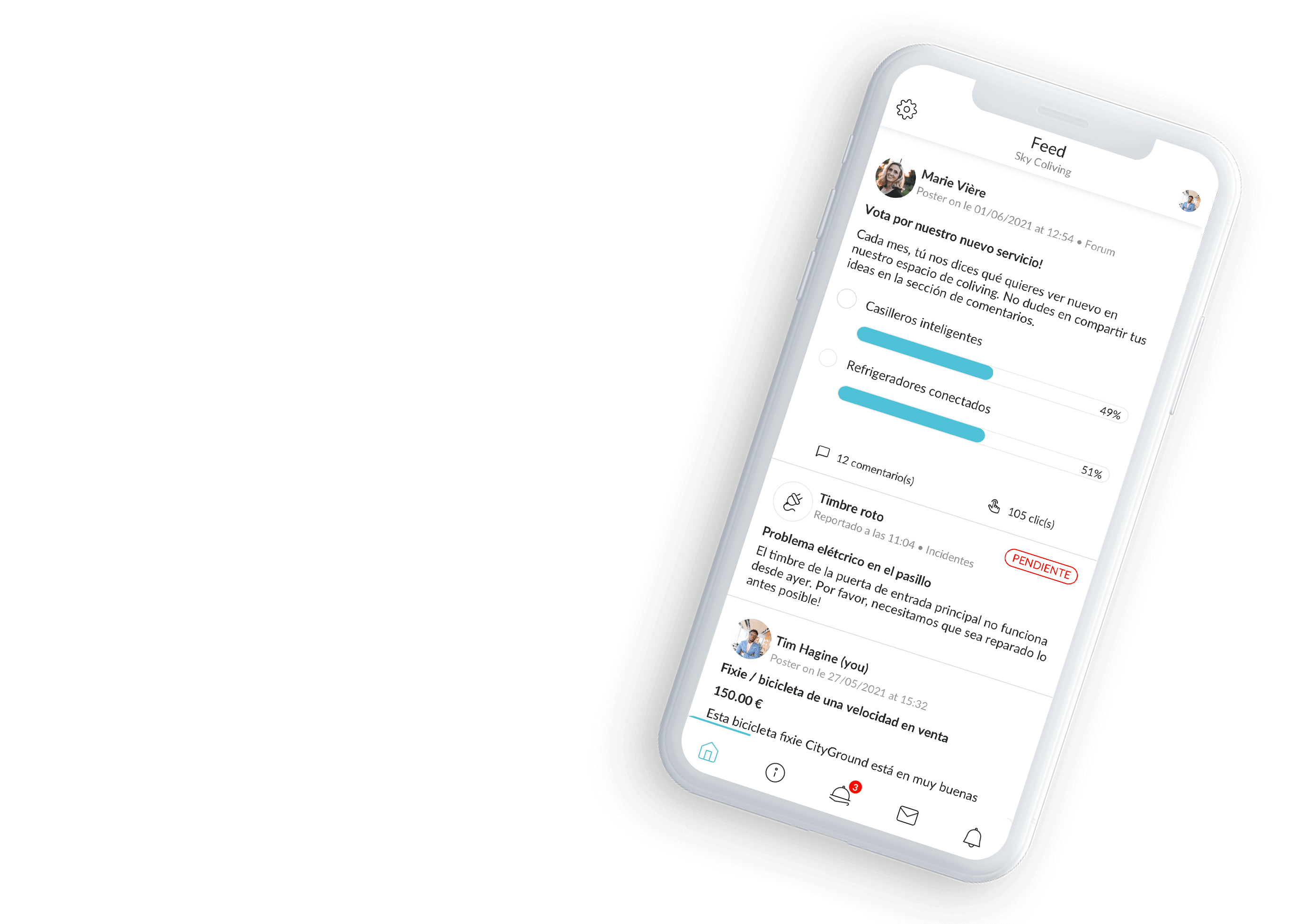 Coliving feed app